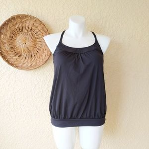 Lands end swim top w/ padded bra